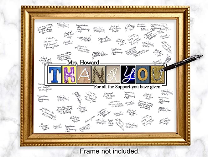 Amazon.com: Personalized Thank you Guestbook Alternative ...