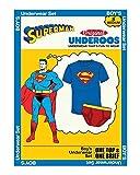 bioWorld Underoos Boys Superman Underwear Shirt Set (Small, 6) Blue