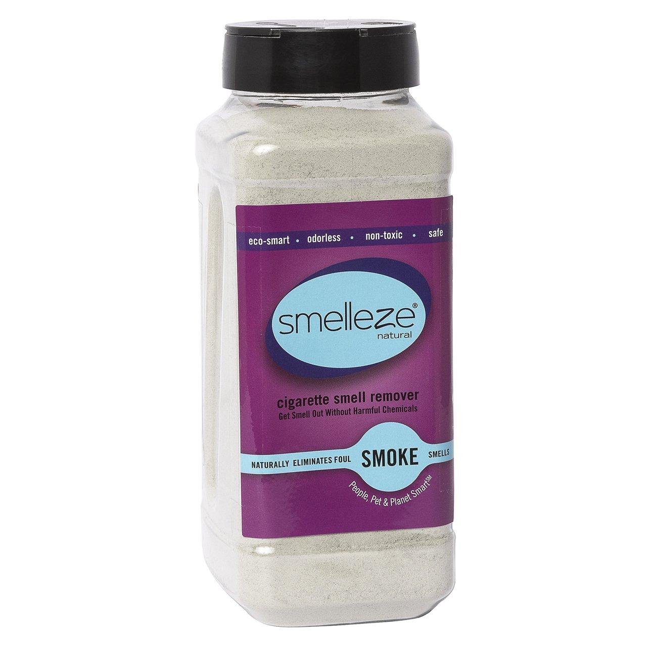 SMELLEZE Natural Cigarette Odor Eliminator Deodorizer: 2 lb. Granules Destroys Smoking Stink