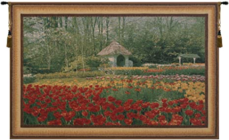 Amazon Com Charlotte Home Furnishings Inc Keukenhof Iv Belgian Medium Tapestry Wall Hanging Viscose Cotton And Polyester Blend Wall Art 69 In X 48 In Home Decor Accents Everything Else