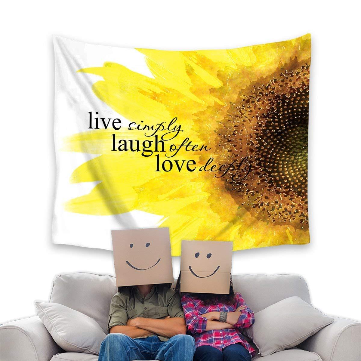 Amazon.com: Yaoni Watercolor Sunflower Art with Live Laugh Love ...