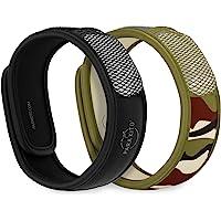 Para'Kito Mosquito Repellent Bonus Pack - 2 Wristbands | 2 Refills (Black + Jungle)