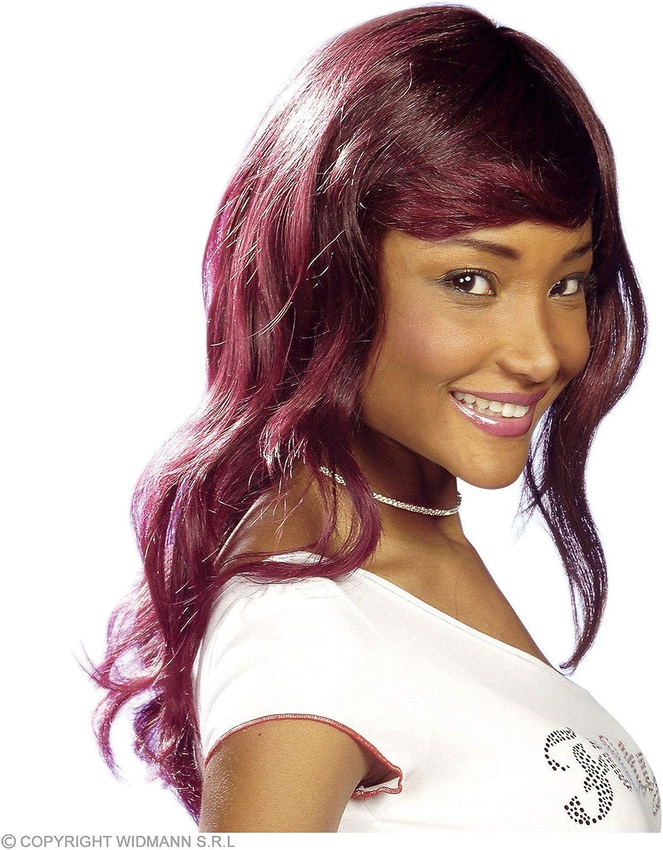 WIDMANN Christelle Burgundy Wig for Hair Accessory Fancy Dress
