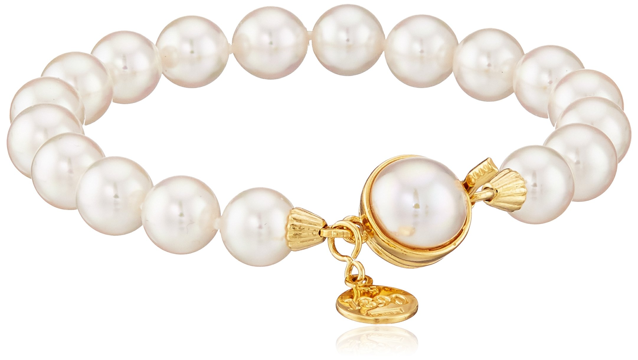 Majorica One-Row White Simulated Pearl 8 mm Bracelet by Majorica