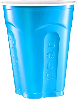 product image for Solo Squared Party Cups, 18 Ounce, Summer Blue, 100 Cups