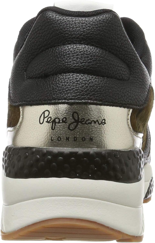 Pepe Jeans Harlow Up Camu hoge sneakers voor dames Green Military Green 679