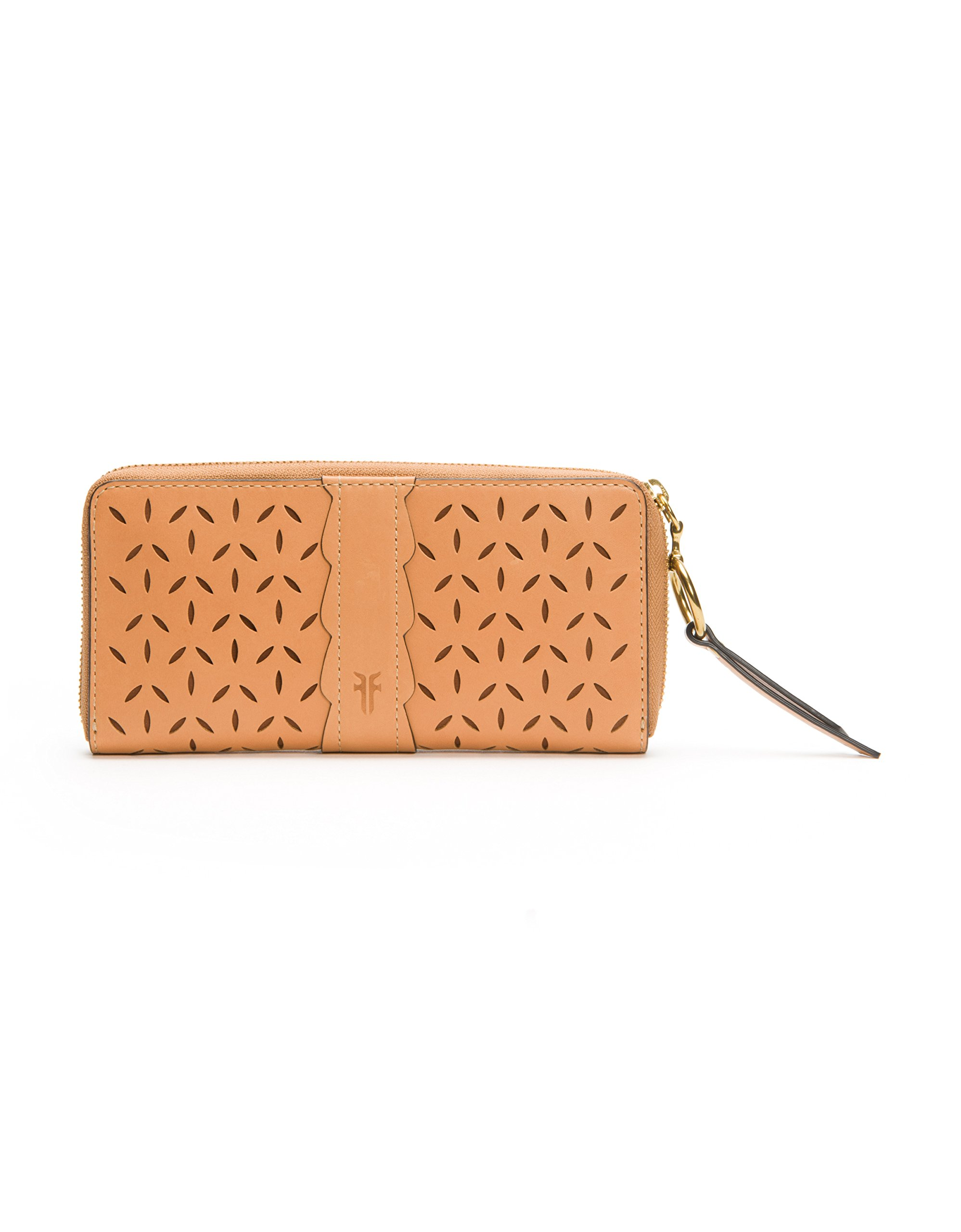 Ilana Perf Zip Around Wallet Oiled Veg Wallet, Light Tan, One Size