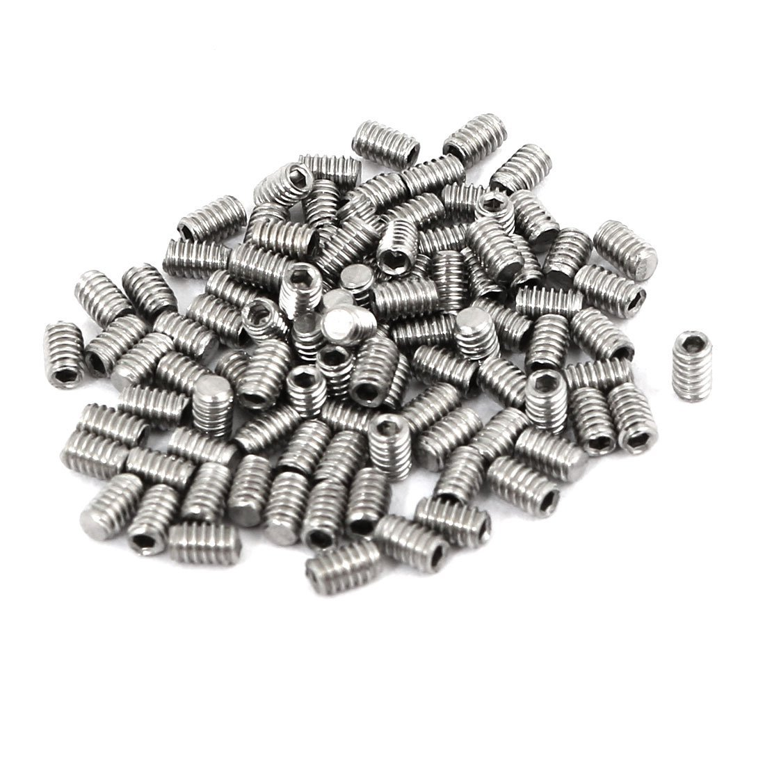 100 pcs Tornillo Prisionero M2 x 3 mm de acero inoxidable ...