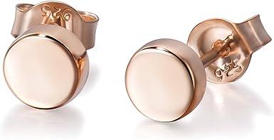 plate silver studs slice earrings,round flat dot earrings disc earrings coin studs