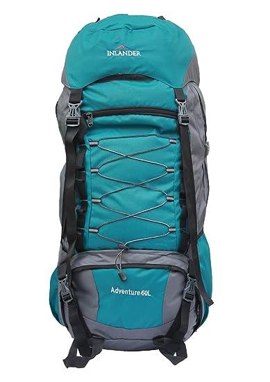 afca37468fc7a INLANDER 6001 Teal Blue 60L Rucksack Daypack Backpack Bag for Travel Hiking  Trekking   Camping for