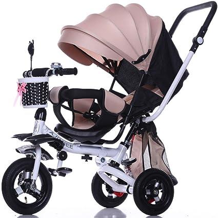 QXMEI Triciclo Infantil de 1 A 3 Años De Edad, Carrito Plegable Ligero Niños Y