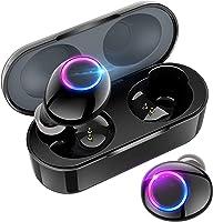 【2020最新デザイン】 Bluetooth イヤホン IPX5防水 Hi-Fi高音質 ワイヤレス イヤホン 500mAh充電ケース付き 自動ペアリング 両耳 左右分離型 スポーツ マイク內蔵 ハンズフリー通話 Bluetooth5.0...