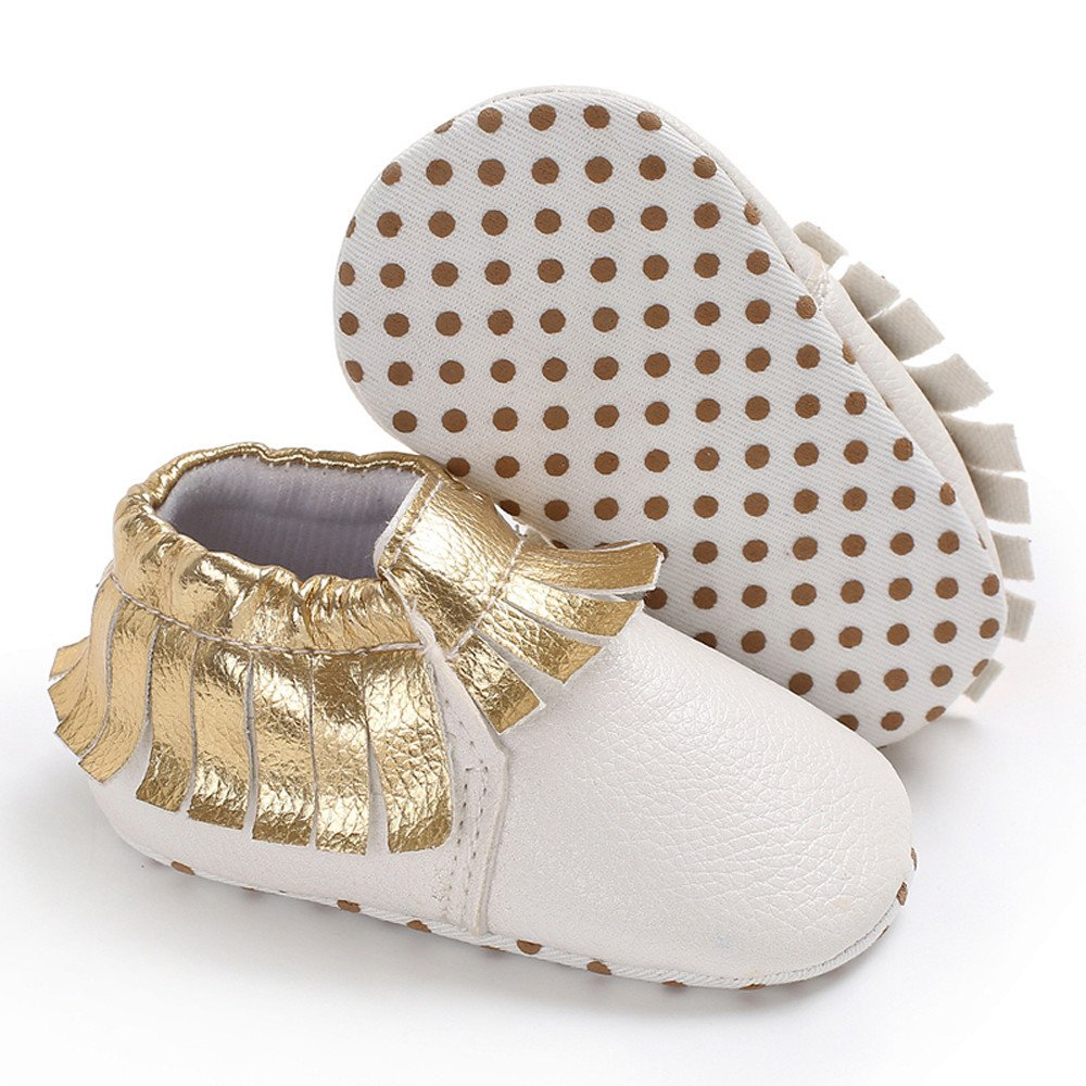 SportHome Durable Toddler Cute Girl Boy Soft Tassels Newborn Anti-Slip Baby Shoes
