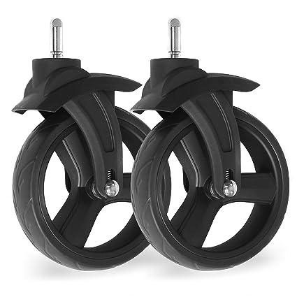 2 x rueda delantera para Magica Froggy cochecito Original delantero ruedas de plástico para ruedas ruedas