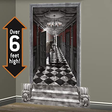 Déco Murale Gothique Couloir 2 X 85 X 165 Cm   Décoration Halloween    Stickers Muraux