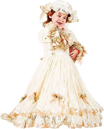 Costume di Carnevale da Principessa Sissi Vestito per Ragazza Bambina 7-10  Anni Travestimento Veneziano Halloween Cosplay Festa Party 8915 Taglia 9 L   ... f9166b87fc1