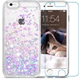 iPhone 6/6s Case, Maxdara iPhone 6/6s Hard Case Flowing Liquid Floating Luxury Bling Glitter Sparkle 4.7 inch Case Cover Fashion Creative Design iPhone 6/6s 4.7 inch Case (Pink&Blue)