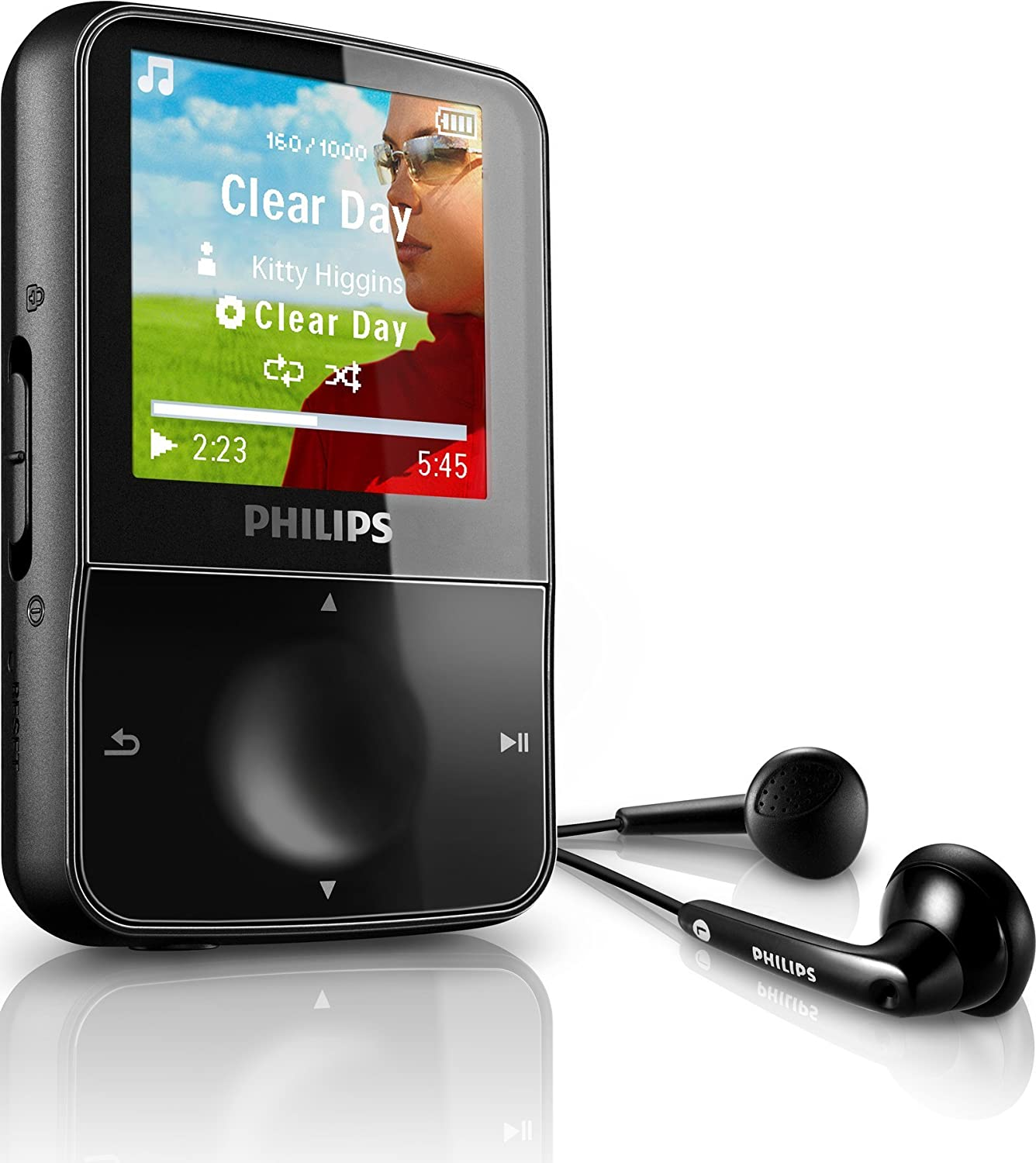 Philips GoGear Vibe 4GB MP3 and Video Player with 1.5-inch LCD and Internet  Video Download Including YouTube - Black: Amazon.co.uk: Audio & HiFi