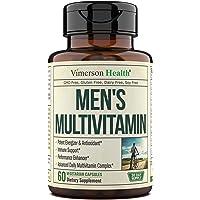 Men's Daily Multimineral Multivitamin Supplement. Vitamins A C E D B1 B2 B3 B5 B6 B12. Magnesium, Biotin, Spirulina…
