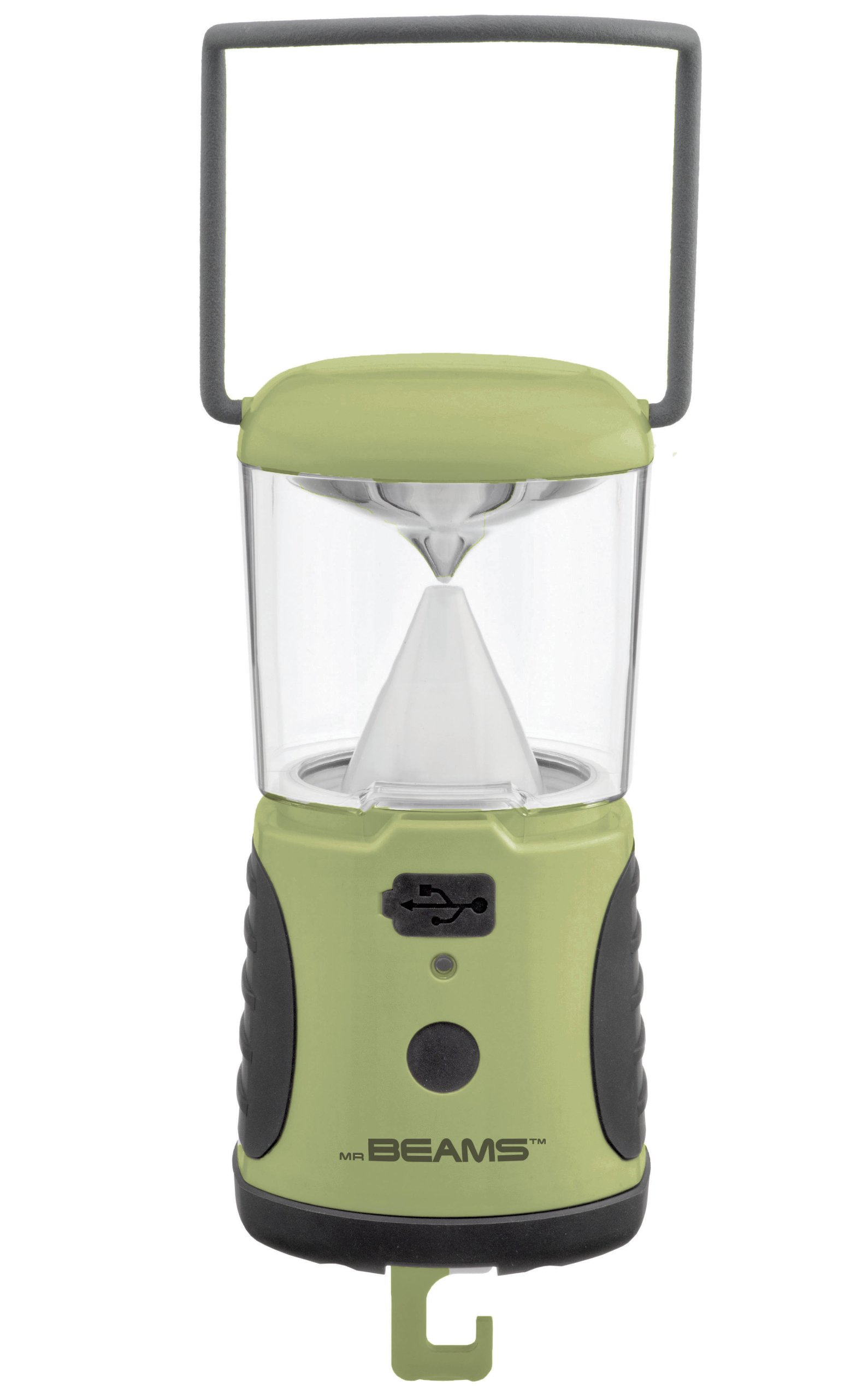 Mr. Beams MB472 UltraBright 260 Weatherproof Lumen LED Lantern with USB Port as a Backup Battery Charger, Green, 2-Pack by Mr. Beams (Image #2)