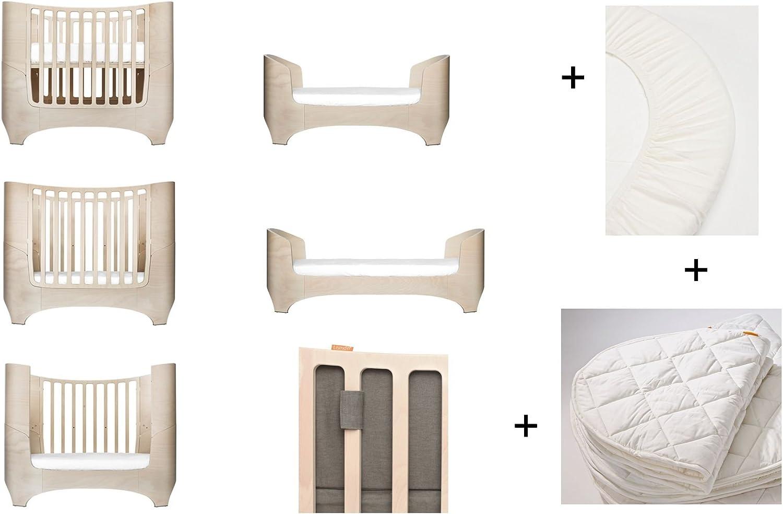 = 2/pi/èces Baby Tour de lit en marron caf/é 1/surmatelas dans la taille b/éb/é White Wash Leander pour b/éb/é et enfant Lit 1/kit original de draps housse dans la taille b/éb/é