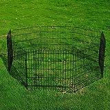 PawHut 30-inch 8-Panel Pet Playpen Metal Indoor Outdoor Exercise Dog Pen Cage Crate