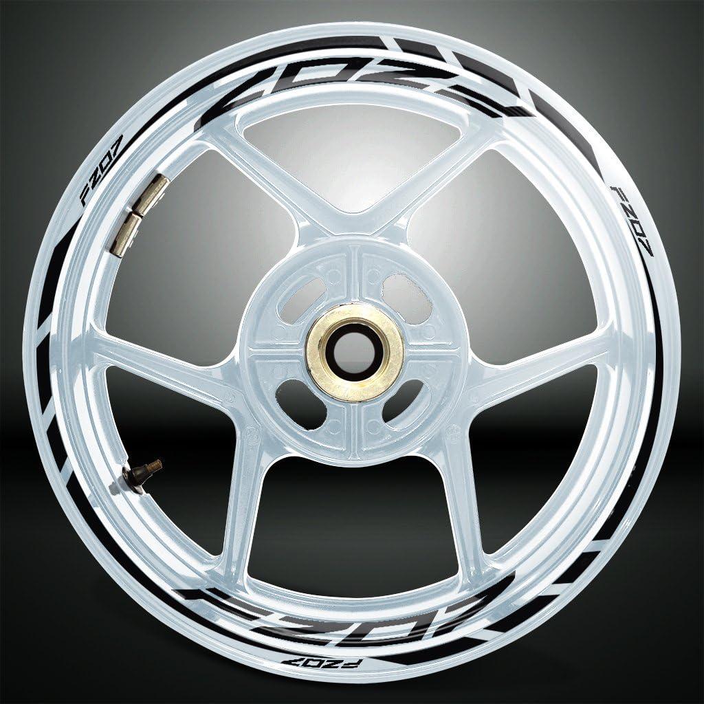 Gloss White Motorcycle Rim Wheel Decal Accessory Sticker For Yamaha FZ07
