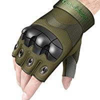 Deals on UP UPKJ Tactical Fingerless/Half Finger Gloves