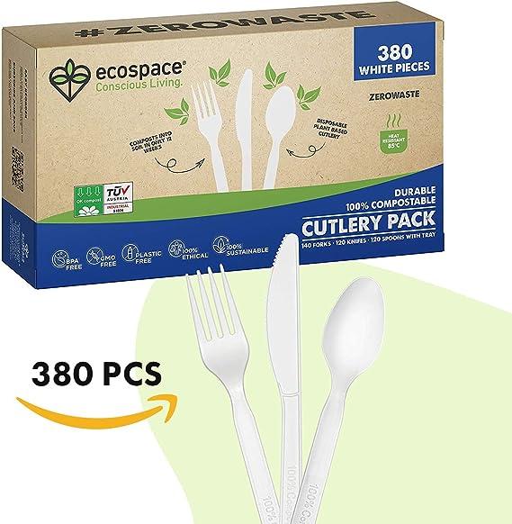 Ecospace Set de Cubiertos Desechables Reutilizables - Tenedores ...