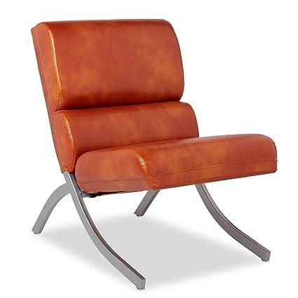 Surprising Amazon Com Ghp 40 75X23 75X29 5 Orange Faux Leather Machost Co Dining Chair Design Ideas Machostcouk