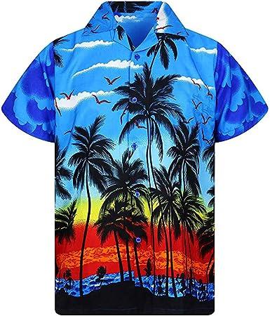 MOTOCO Hombre Hawaiano Poloshirt Camisa de Manga Corta Camisa con ...