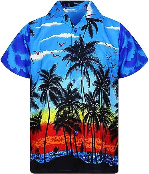 Alovemo Mens Multi Color 3D Printing Tees Shirt Short Sleeve T-Shirt Blouse Tops