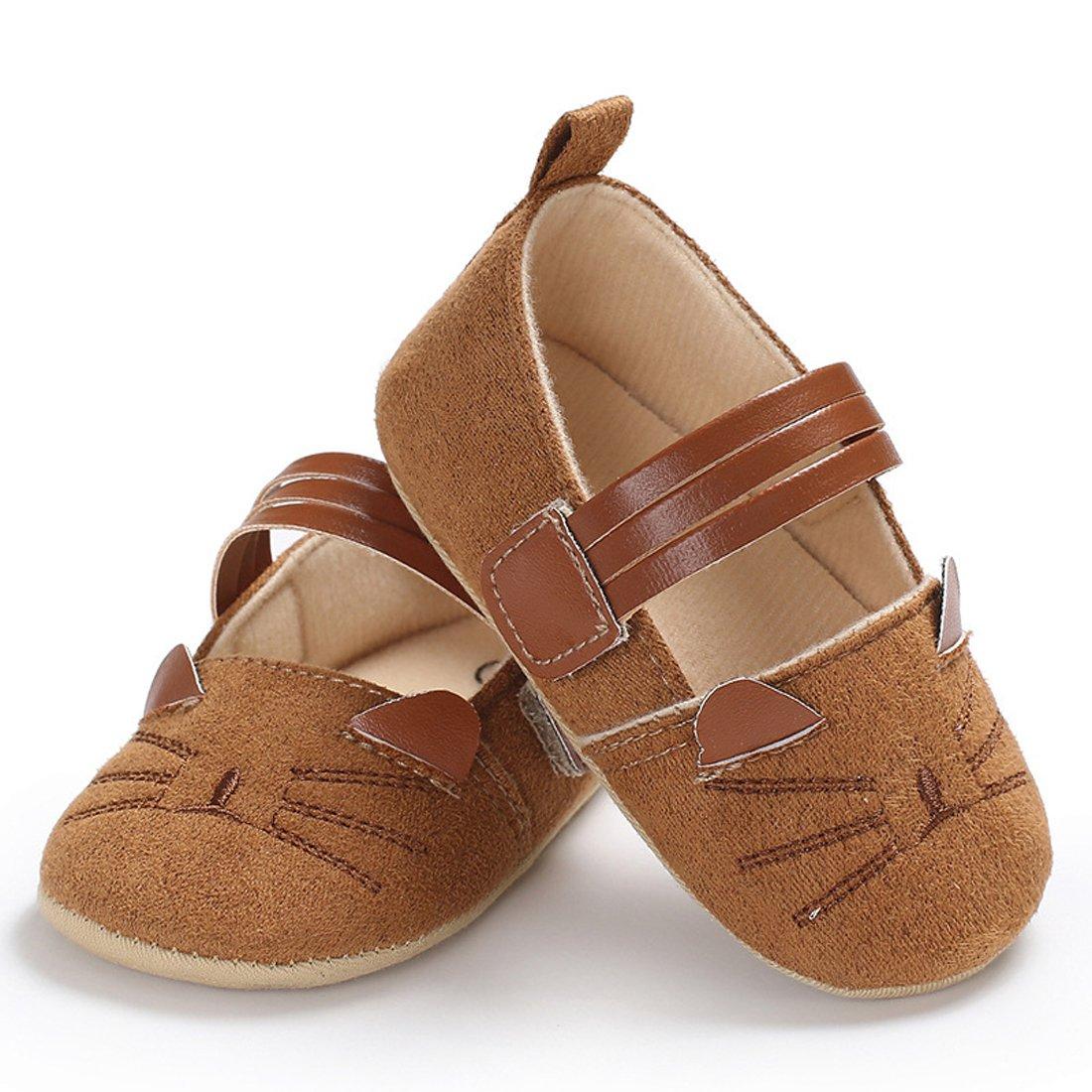 Gaorui Baby Shoes Toddler Boy Girls First Walker Slippers Anti-Slip Sneaker Spring Cartoon Cat Shoes