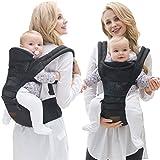 Lanova Baby Carrier - BEST for Newborn & Child - Backpack & Kangaroo - Carry Safer NOW!--Black