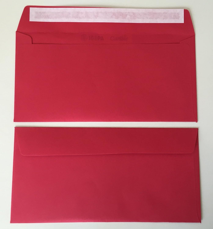 strip adesivo 50 buste per lettera rosso rosso cadmio 220 x 110 mm rosso scuro