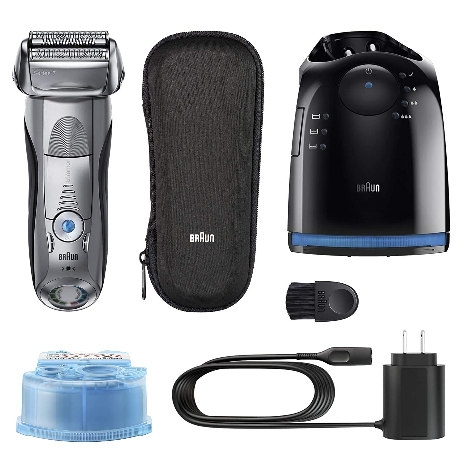 Amazon Com Braun Electric Razor For Men Series 7 790cc Electric Shaver With Precision Trimmer Rechargeable Foil Shaver Clean Charge Station And Travel Case Beauty