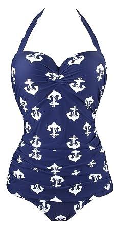Aidonger Damen Pin-Up Bikini Set Optimizer Flacher Bauch Badeanzug  EU34-EU46 Gr. f1233ec0ee