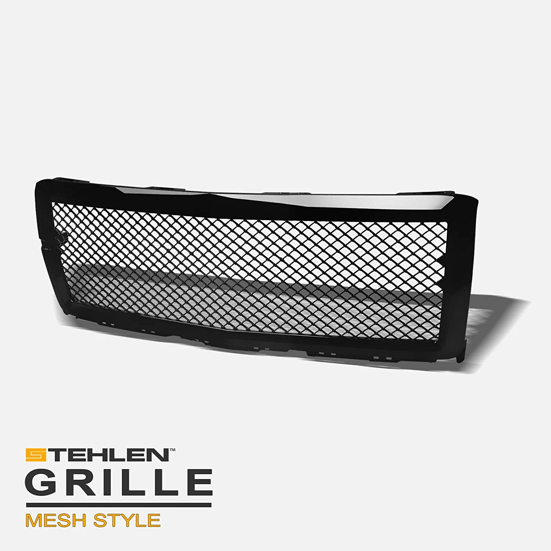 Stehlen 642167821465 Mesh Front Hood Bumper Grille - Black For 2014-2015 Chevy Silverado 1500