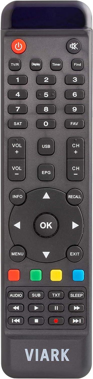 Viark Sat - Receptor Satélite Digital Full HD DVB-S2 Multistream H.265/HEVC, con LAN, Antena WiFi USB y Lector de Tarjetas CA
