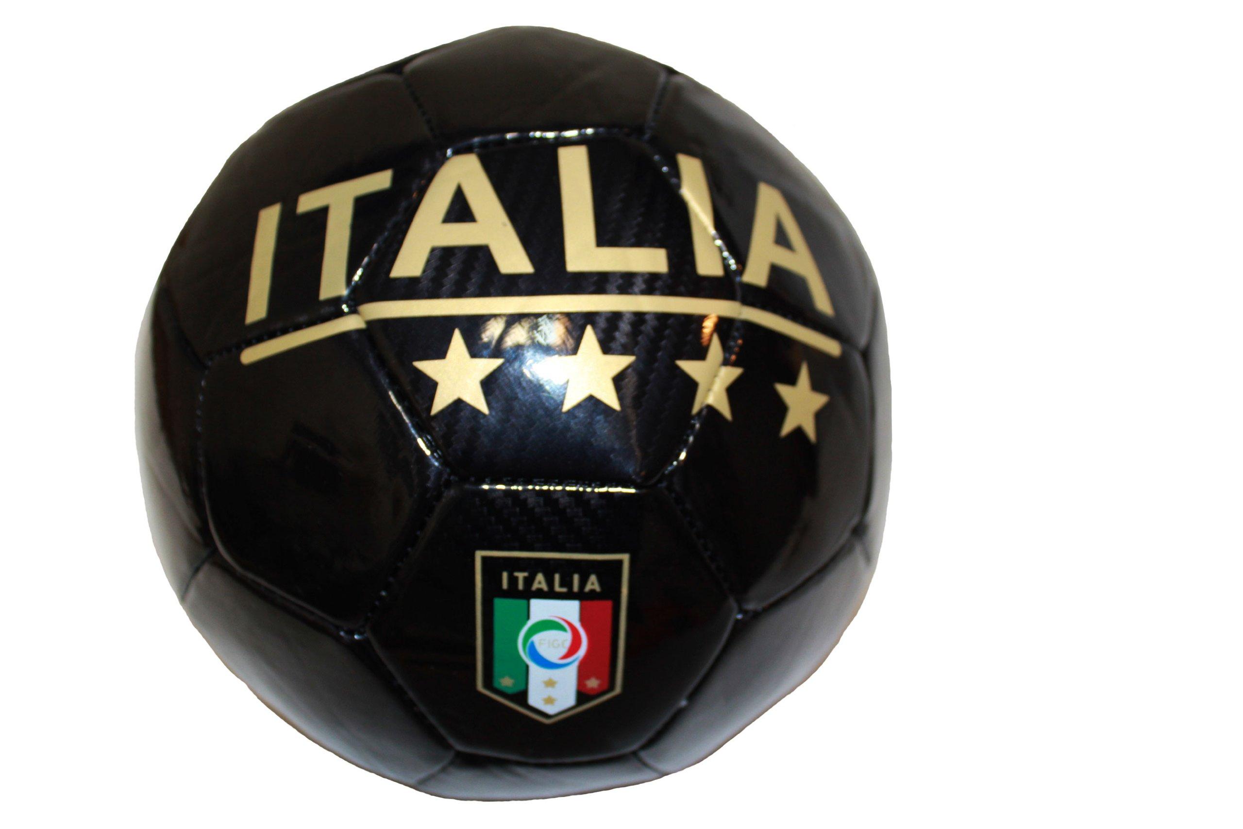Italia Italy Black FIGC Logo FIFA World Cup Soccer Ball Size 5.. New