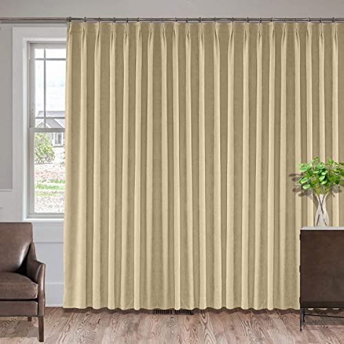 Macochico Extra Long and Wide Curtains 150″ W x 102″ L Polyester Cotton Drapery