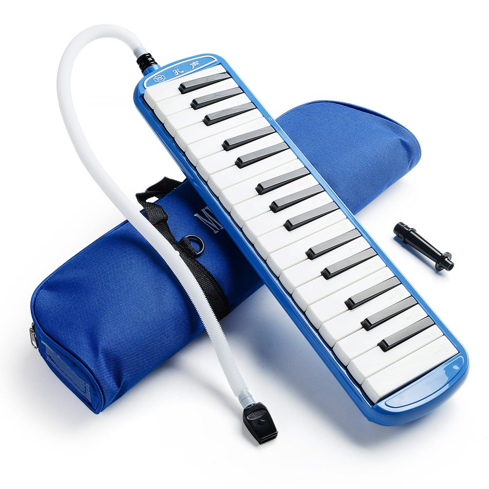 Blue 32 Key Portable Melodica With Carrying Bag For Music Lovers Beginners Gift AROMA 10766402