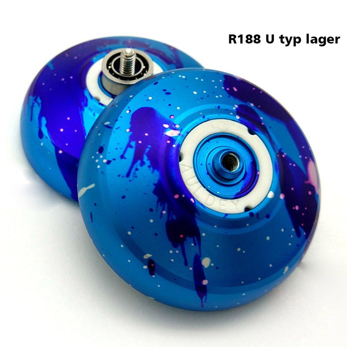 Professional Aluminum Alloy Unresponsive Yoyo Ball for kids Toy+2 Yo Yo String+1 Yo Yo Glove +1 Yo Yo Bag