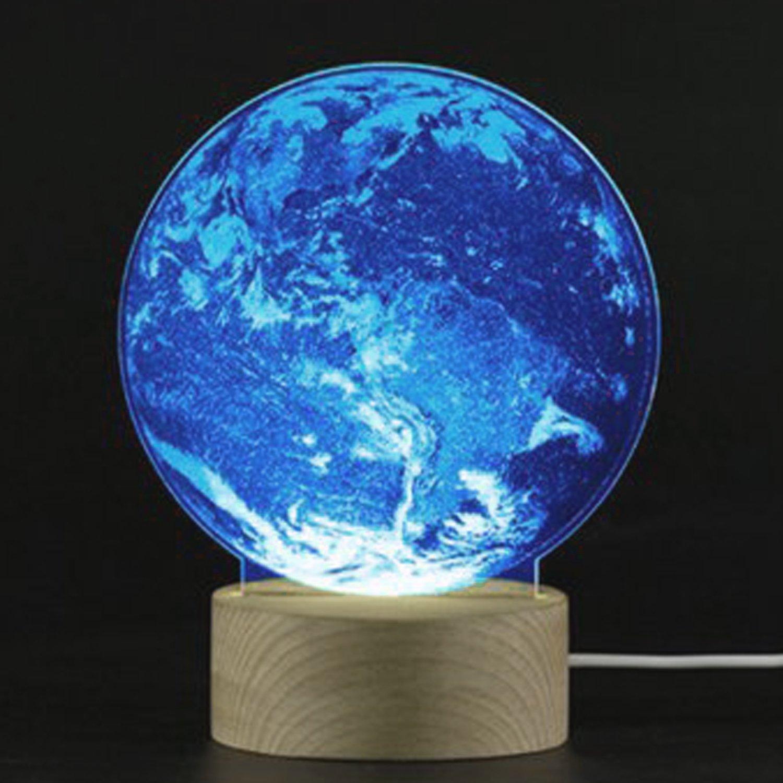 3D LED Optical Illusion Lamp Night Light,SUAVER USB 3D Desk Lamp LED Creative Lamp Acrylic Panel & Wooden Base Decoration Light for Xmas Birthday Gifts (Penguin)