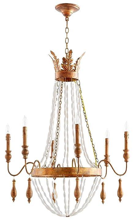 Amazon cyan design 07629 alexandra 6 light chandelier in gold cyan design 07629 alexandra 6 light chandelier in gold aloadofball Images