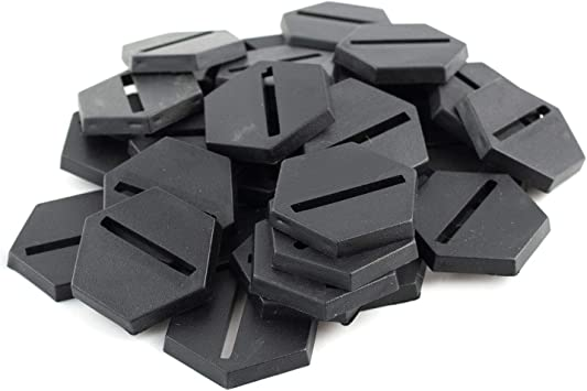 War World Gaming - Peanas Hexagonal de plástico 25mm con Ranura (Elige cantidad) - Wargames Históricos, Wargaming, Base, Escenografía, Miniaturas, Dioramas, Figuras, RPG: Amazon.es: Juguetes y juegos