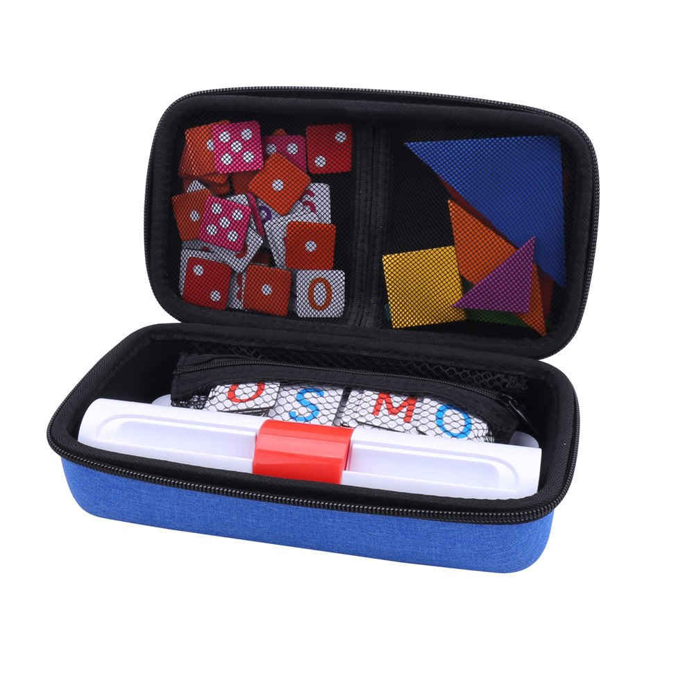 Aenllosi Storage Organizer Case for Osmo Genius Kit, fits OSMO Base/Starter/Numbers/Words/Tangram/Coding Awbie Game (for OSMO Genius Set, Blue) by Aenllosi