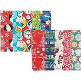 Papel de regalo de tamaño grande, 50 x 70 cm, 10 unidades, 10 diseños