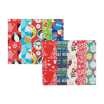 Papel de regalo de tamaño grande, 50 x 70 cm, 10 unidades, 10