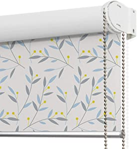 LANTIME Blackout Window Roller Shades, Patterned Thermal Insulated and UV Protection Window Roller Blinds, Easy Installation for Home and Office, Pattern 11